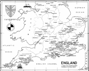 Figure 3 Wolff's Sherlockian Map of England, from his 1952 Sherlockian Atlas. Only 100 copies of this pamphlet were made.
