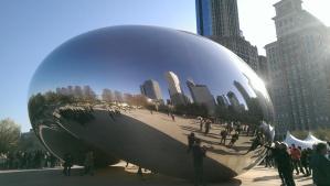 Millennium Gate, otherwise known as the Bean, in Chicago's Millennium Park